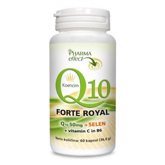 Q10 forte royal 50 mg + selen in vitamin C in B6-Vitamini in minerali