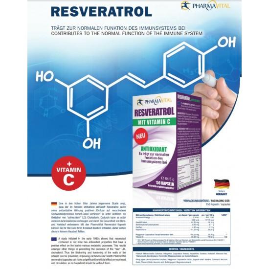 Resveratrol z vitaminom C 150 kapsul-Vitamini in minerali